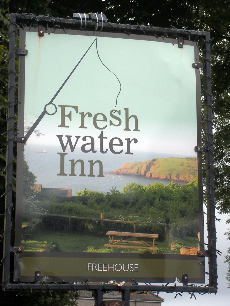 Freshwater Inn Freshwater East sign